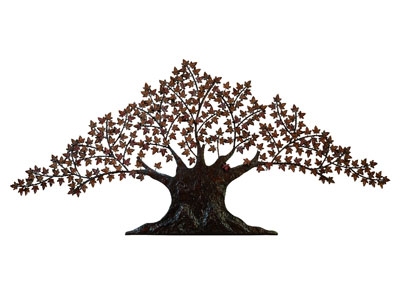 "Iris Metal Tree Wall Art 92""W x 42""H"