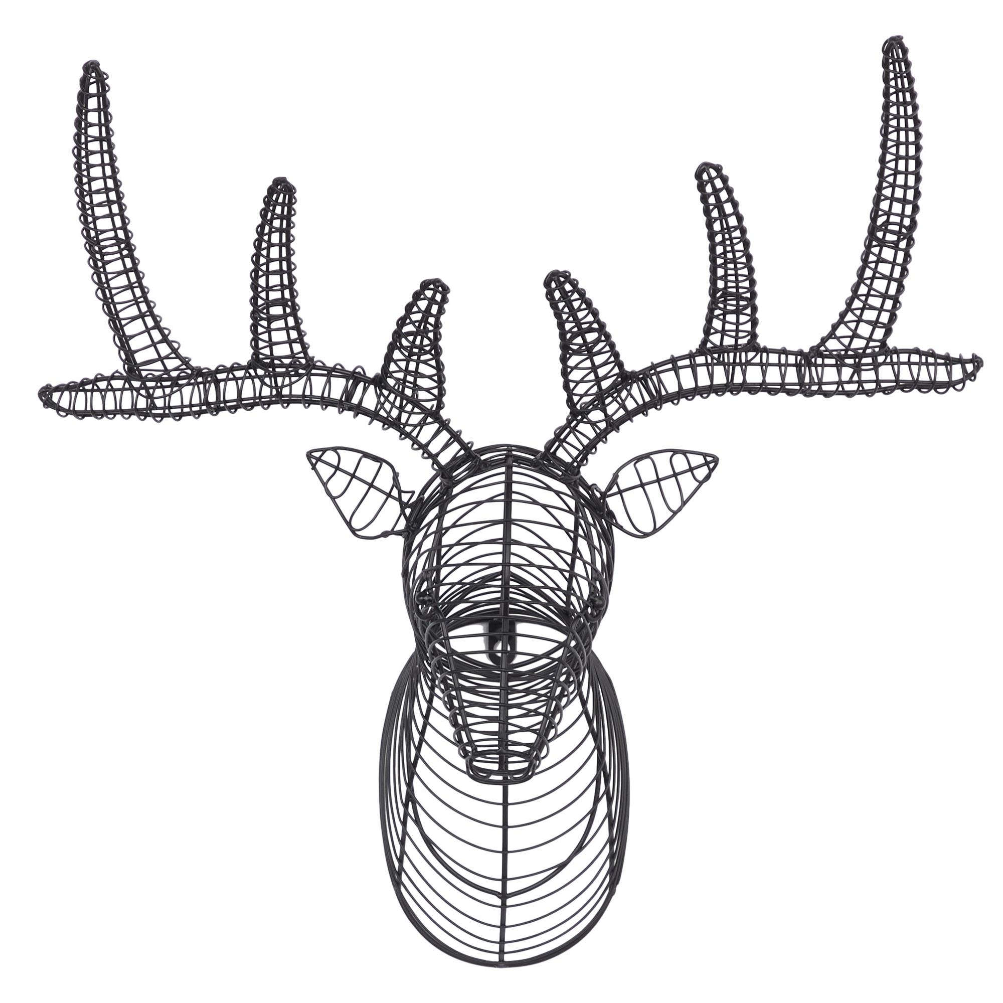 "Metal Wire Deer Wall Decor 21""W x 22""H"