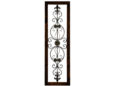 "Silvia Grill Metal Scroll Wall Decor 19""W x 62""H"
