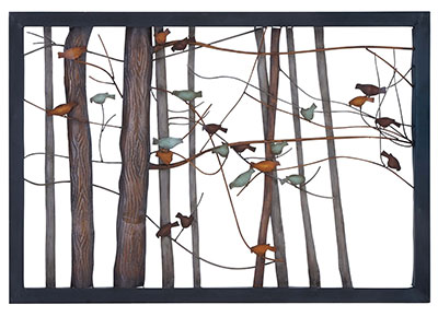"Bird/Branches Metal Wall Decor 39""W x 27""H"