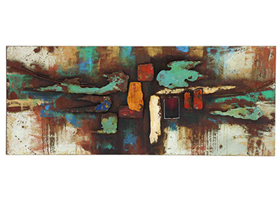 "Abstract Wall Art 59""W x 24""H"