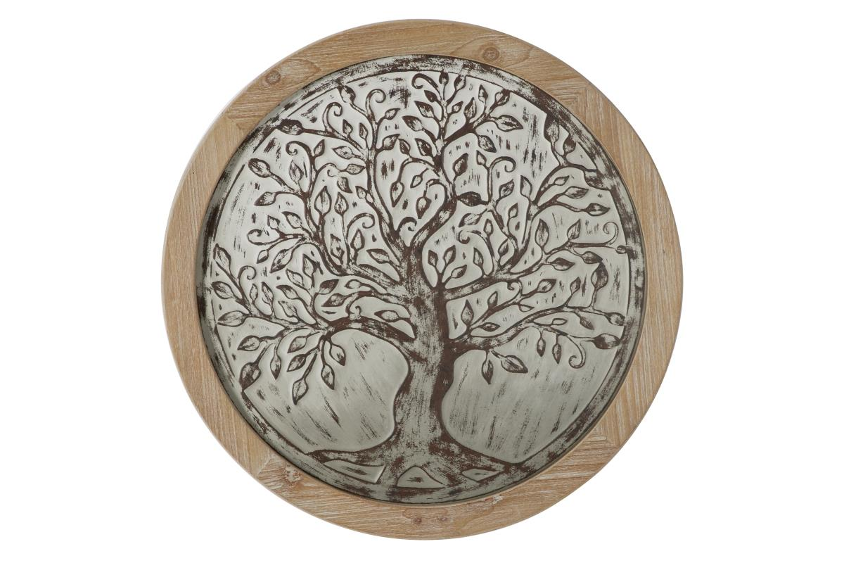 "Wood/Metal Tree Wall Decor 24"" Rd"