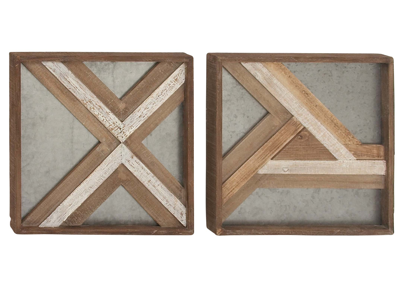 Assorted Geometric Wall Plaque 16""