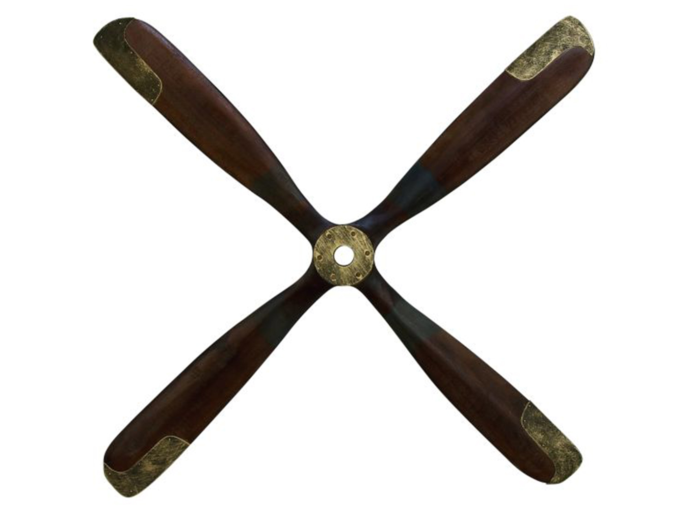 "Wood Airplane Propeller Wall Decor 44""W x 44""H"