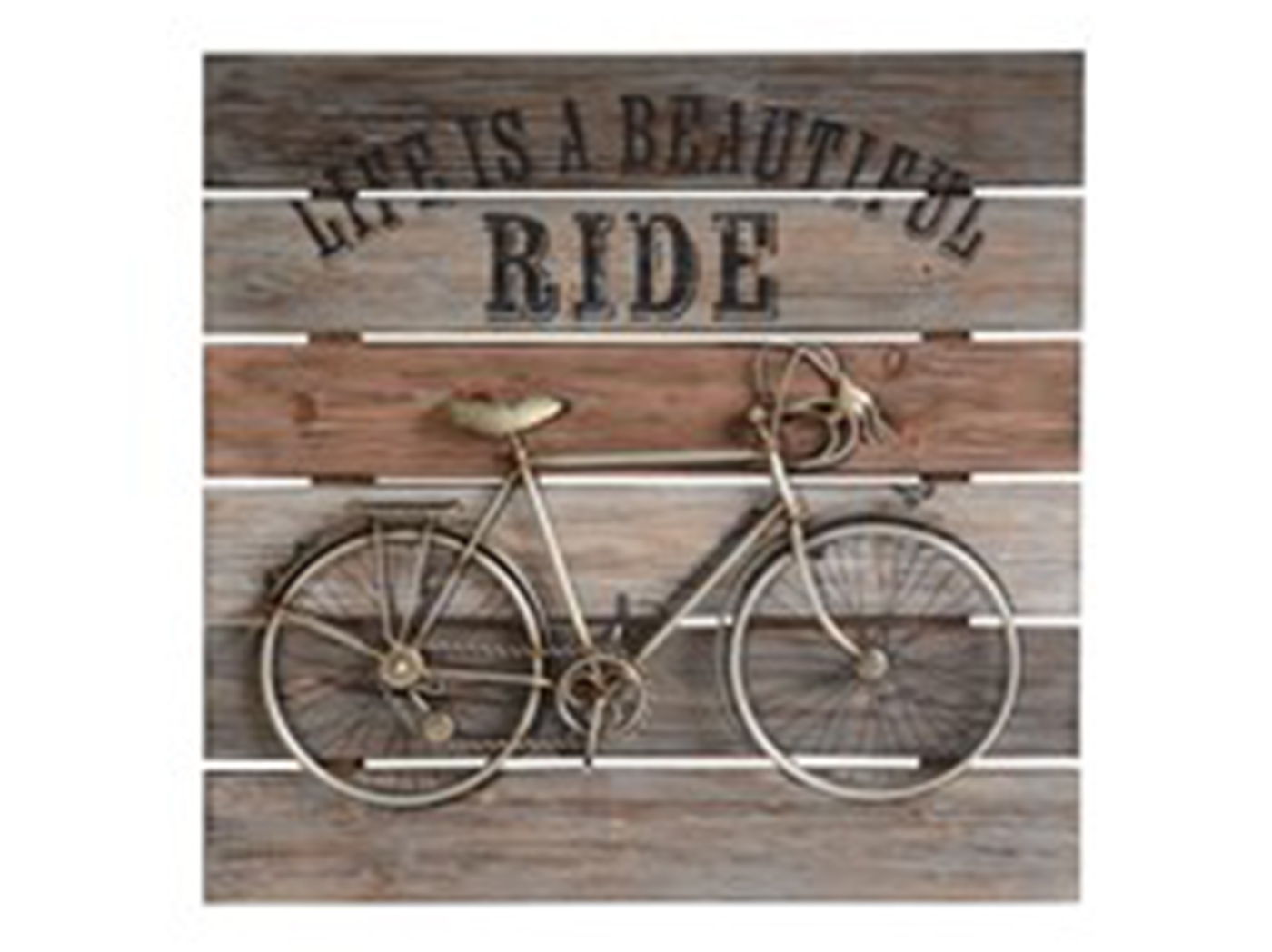 "Life is a Beautiful Ride Wall Plaque 24""W x 24""H"