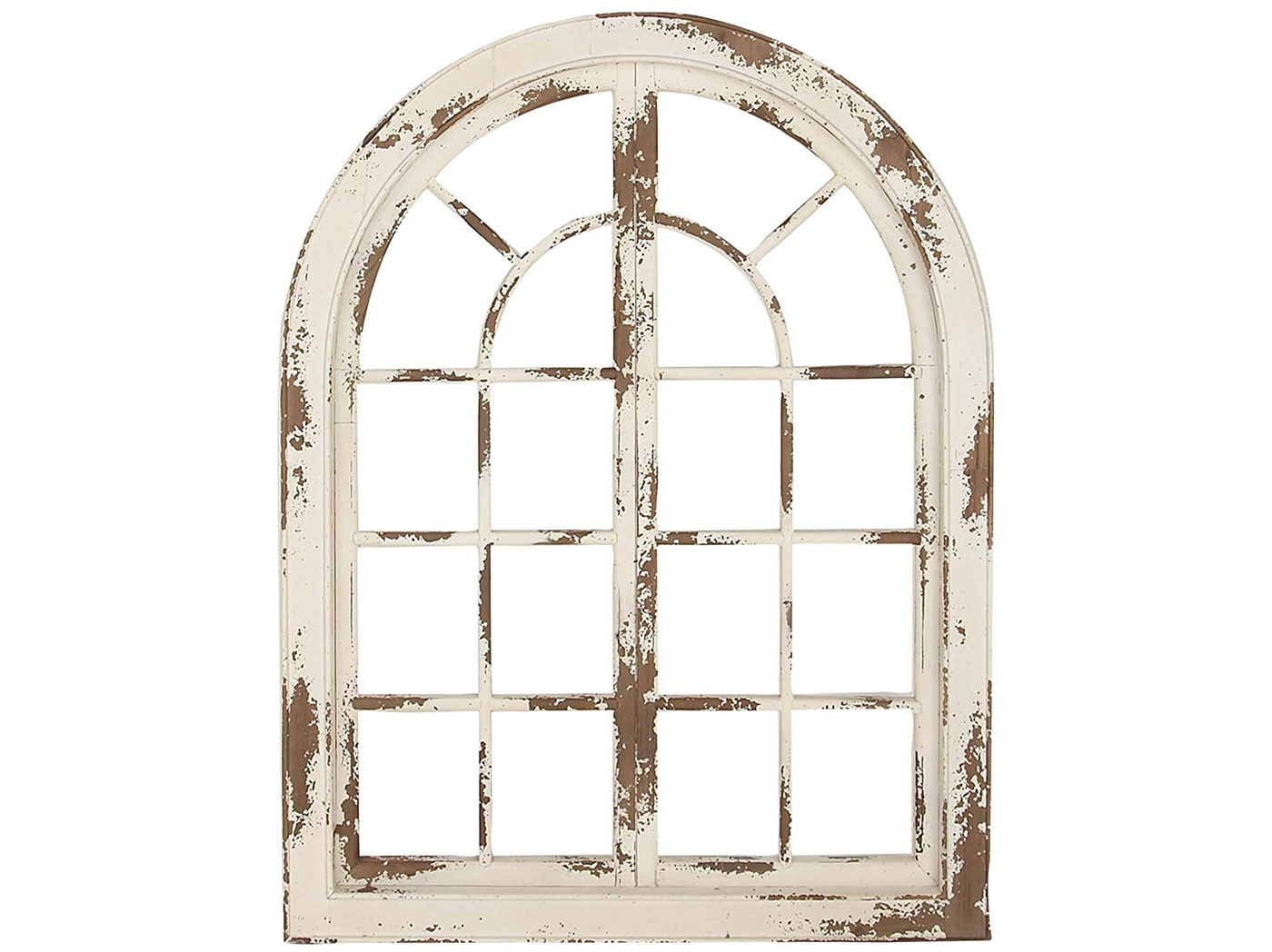 "White Wood Wall Arch 37""W x 48""H"