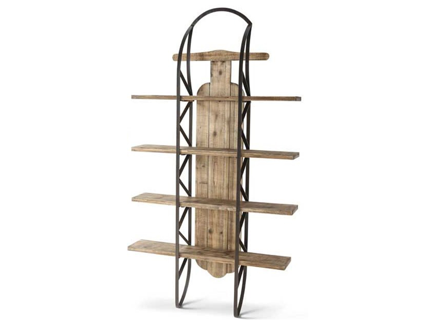Large Wood Sled Wall Shelf