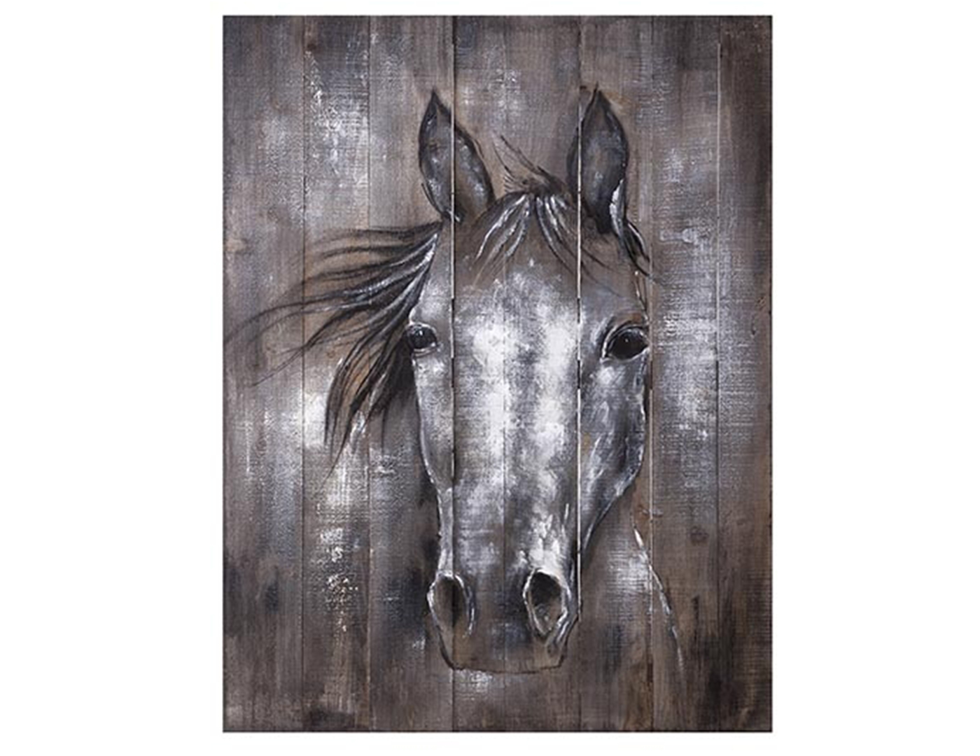 "Rustic Horse on Wood Wall Art 30""W x 40""H"