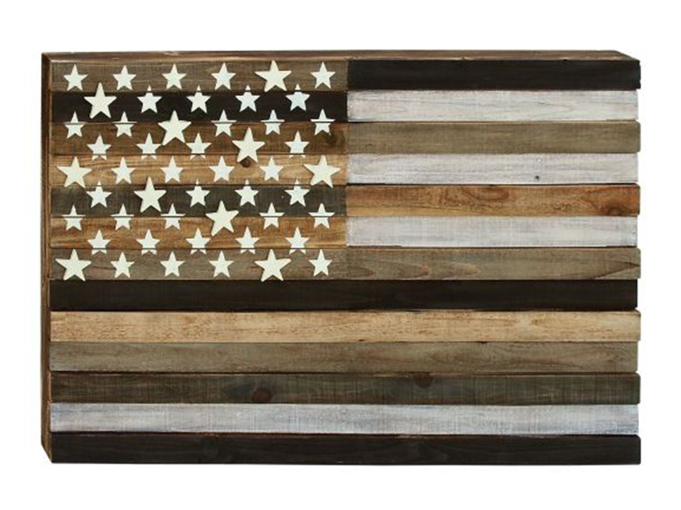 "Wood Flag Wall Decor 44""W x 30""H"