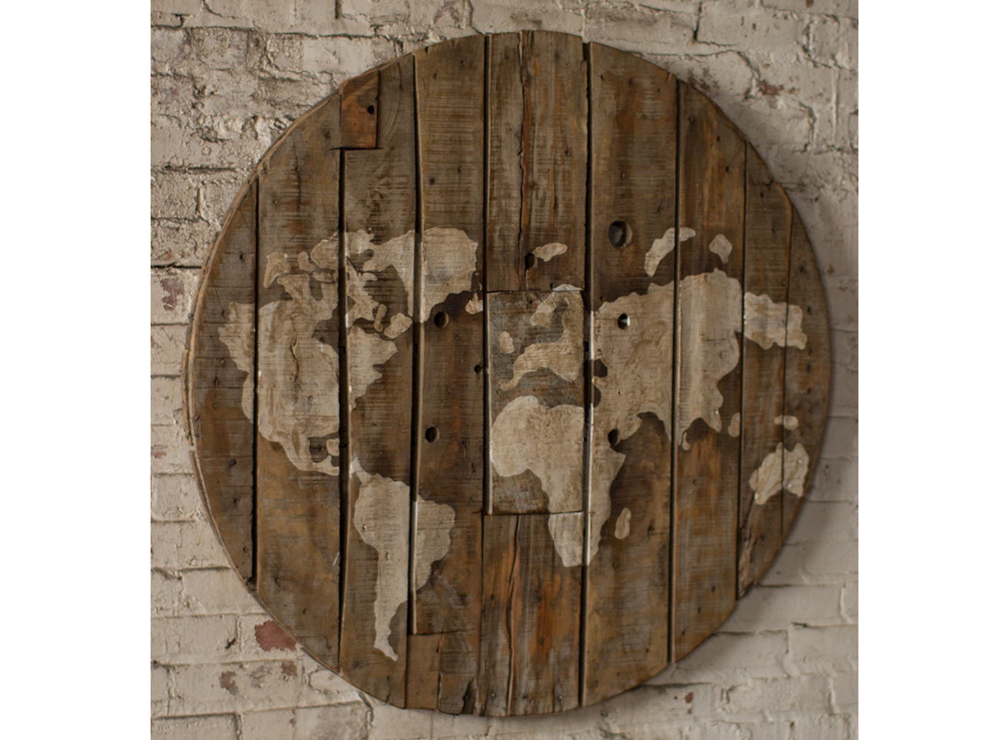 World Map Wall Decor 42""