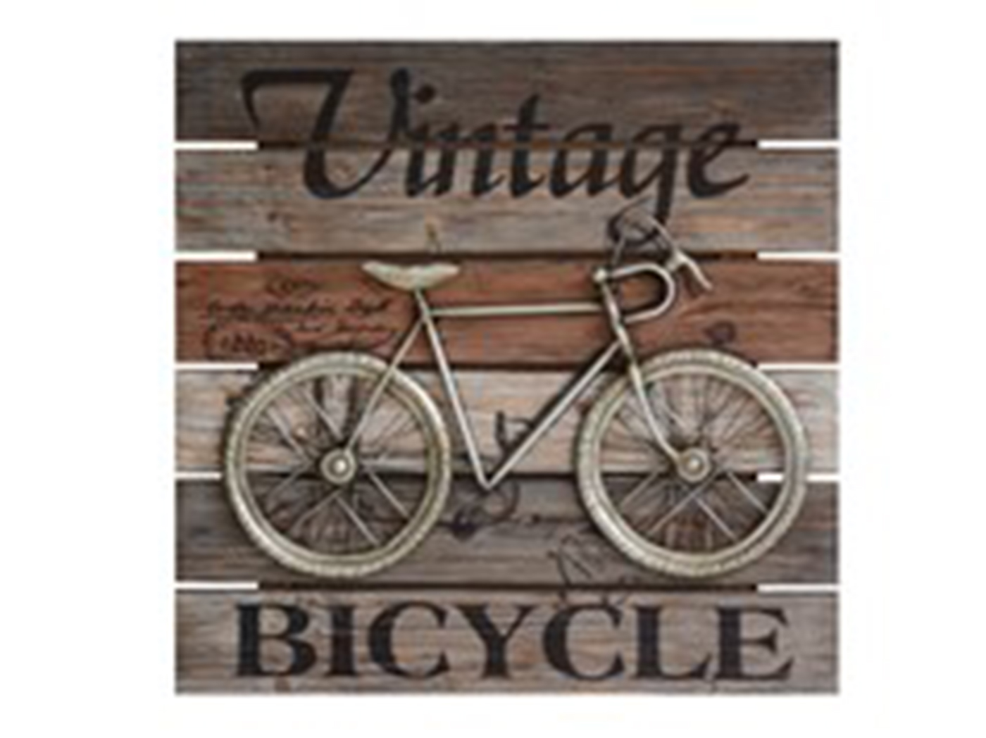 "Vintage Bicycle Wall Plaque 24""W x 24""H"