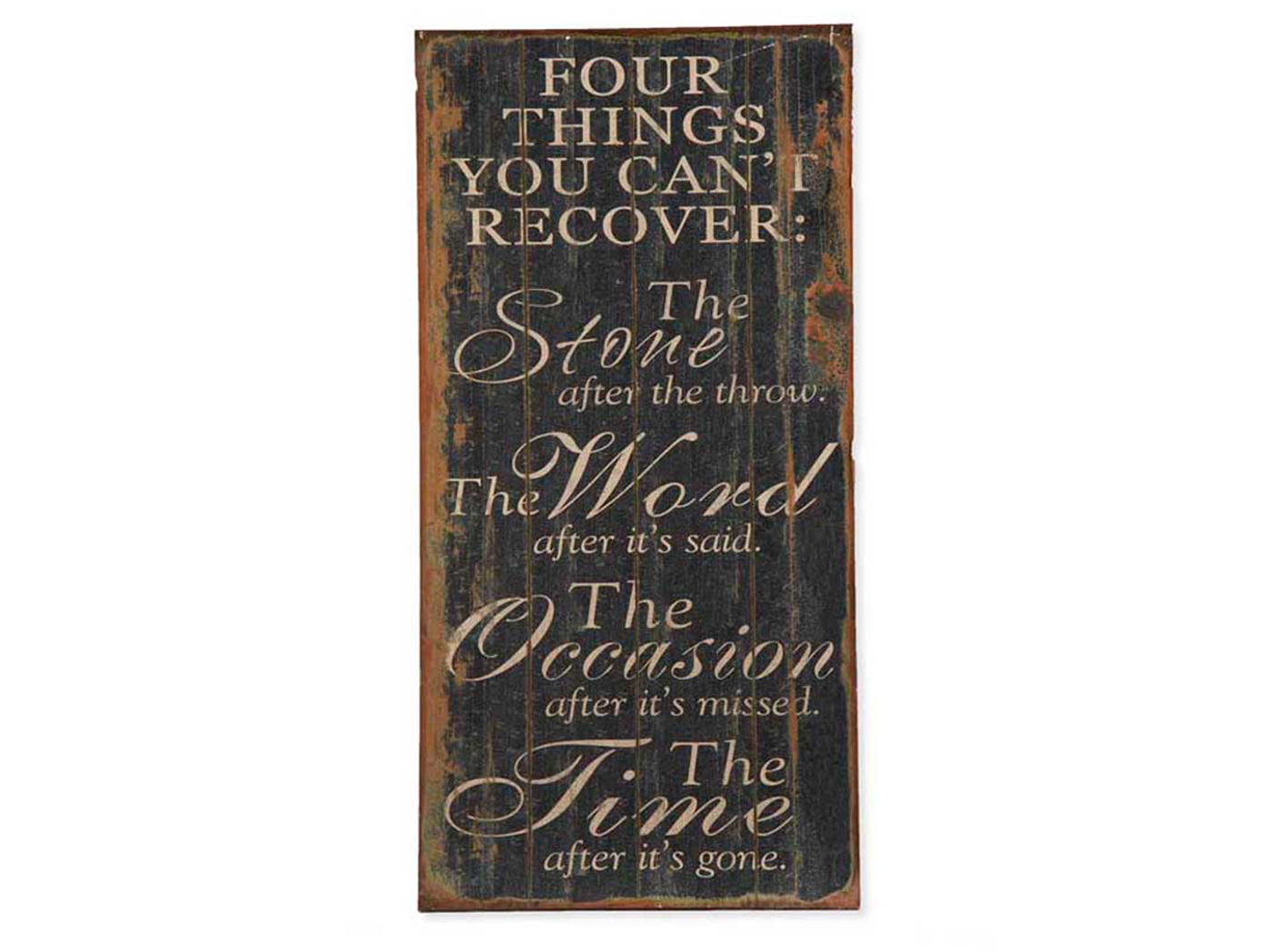 "Four Things Wall Decor 16""W x 32""H"