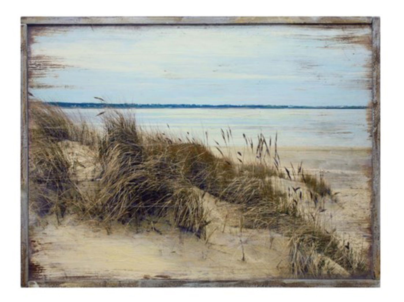 "Sand Dunes Wood Wall Art 40""W x 30""H"