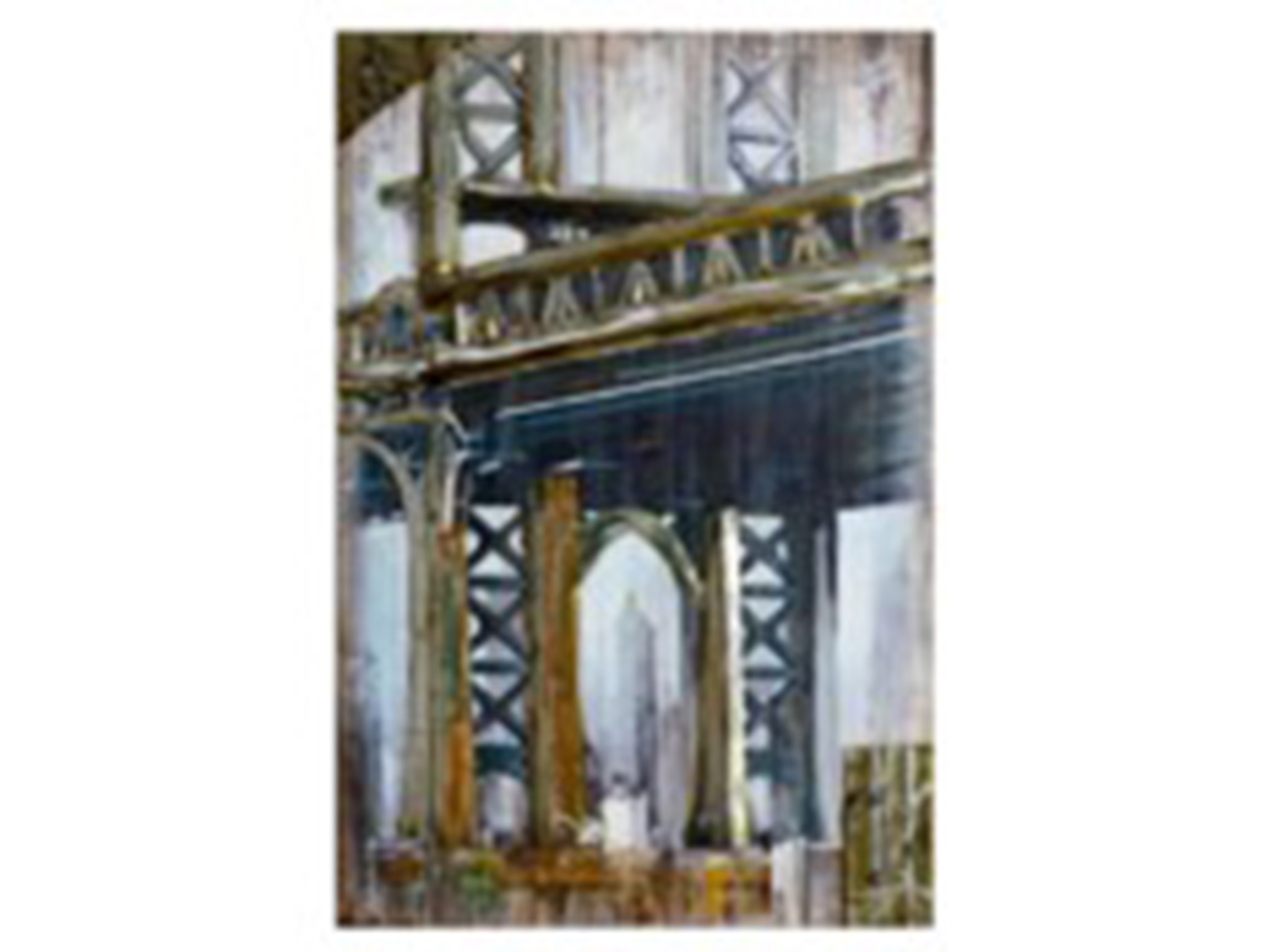 "Bridge Handpainted Art 32""W x 48""H"