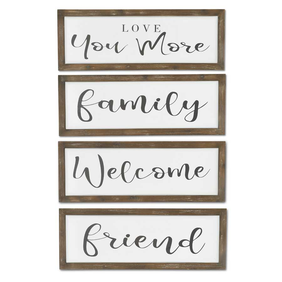 "Assorted Enamel Word Wall Sign Each 11""H x 30""W"