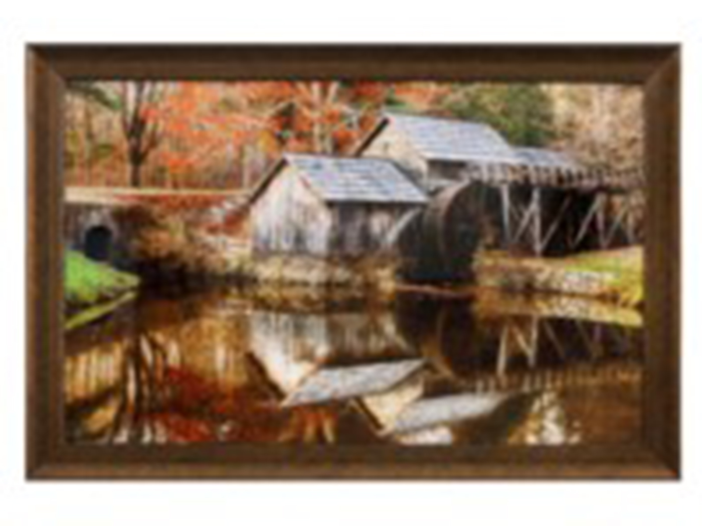 "Mill By River Framed Art 48""W x 32""H"