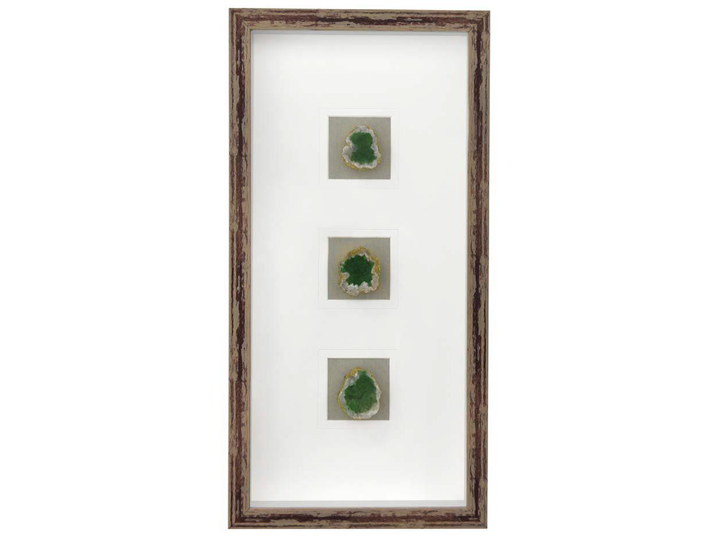 "Green Agate Framed Art 12""W x 24""H"