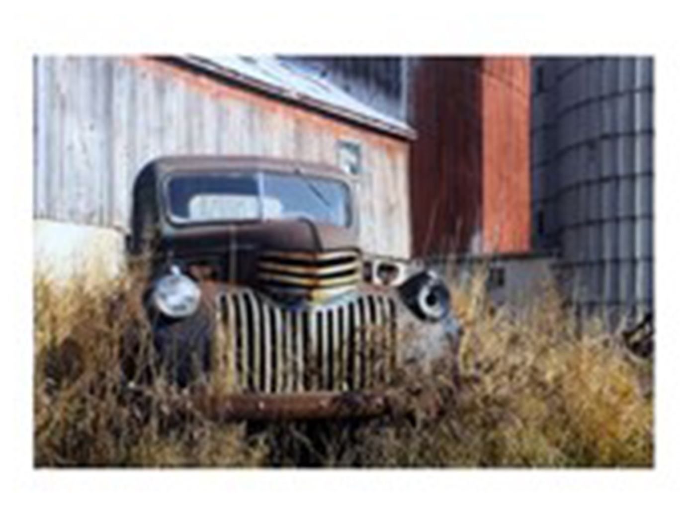 "Antique Truck and Barn Wall Art 47""W x 31.5""H"