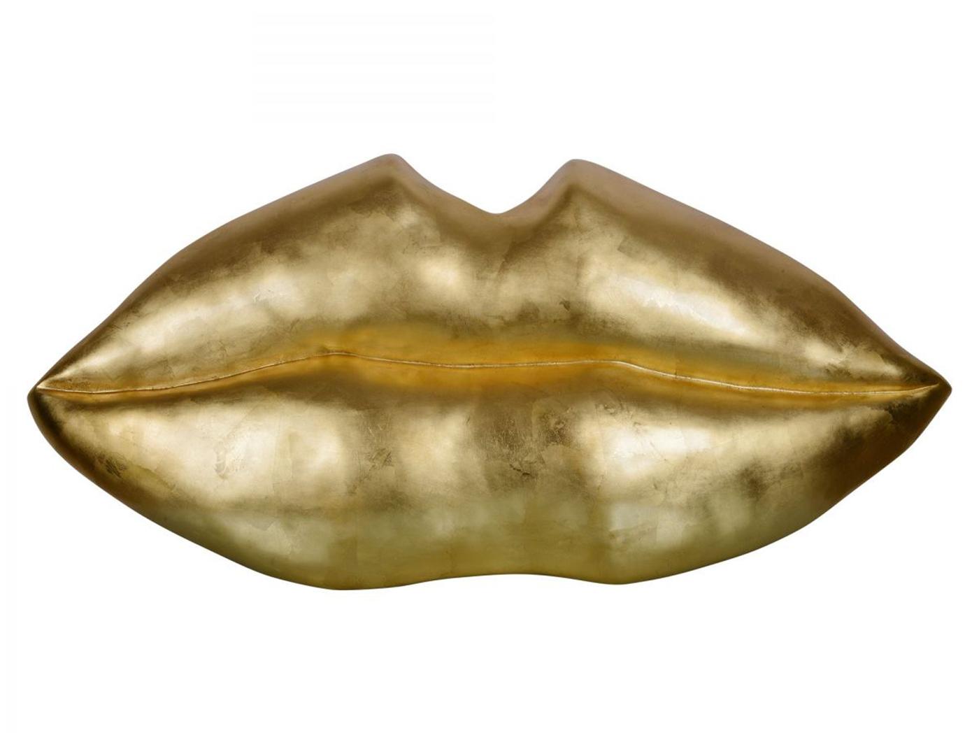 Gold Leaf Lips Wall Decor 49\