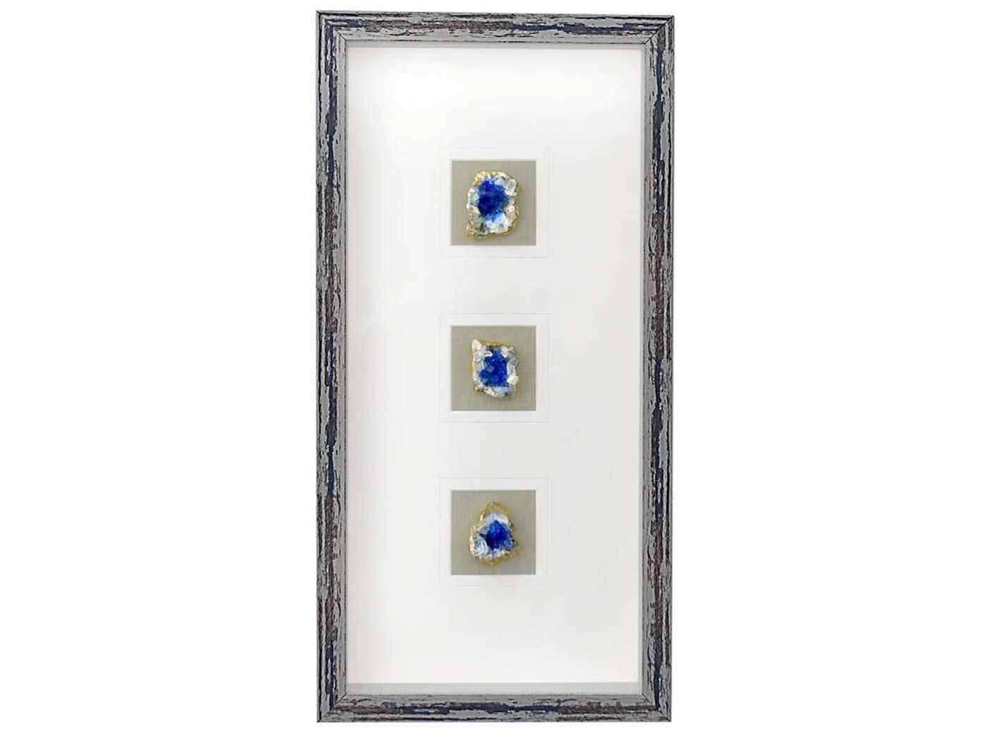"Blue Agate Framed Art 12""W x 24""H"