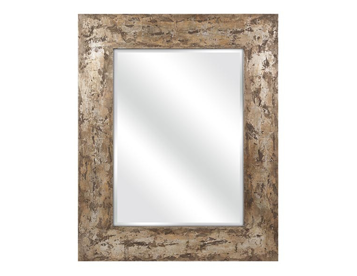 Tan and Bronze Framed Mirror