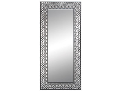 "Black/Bling Metal Mirror 37""W x 79""H"