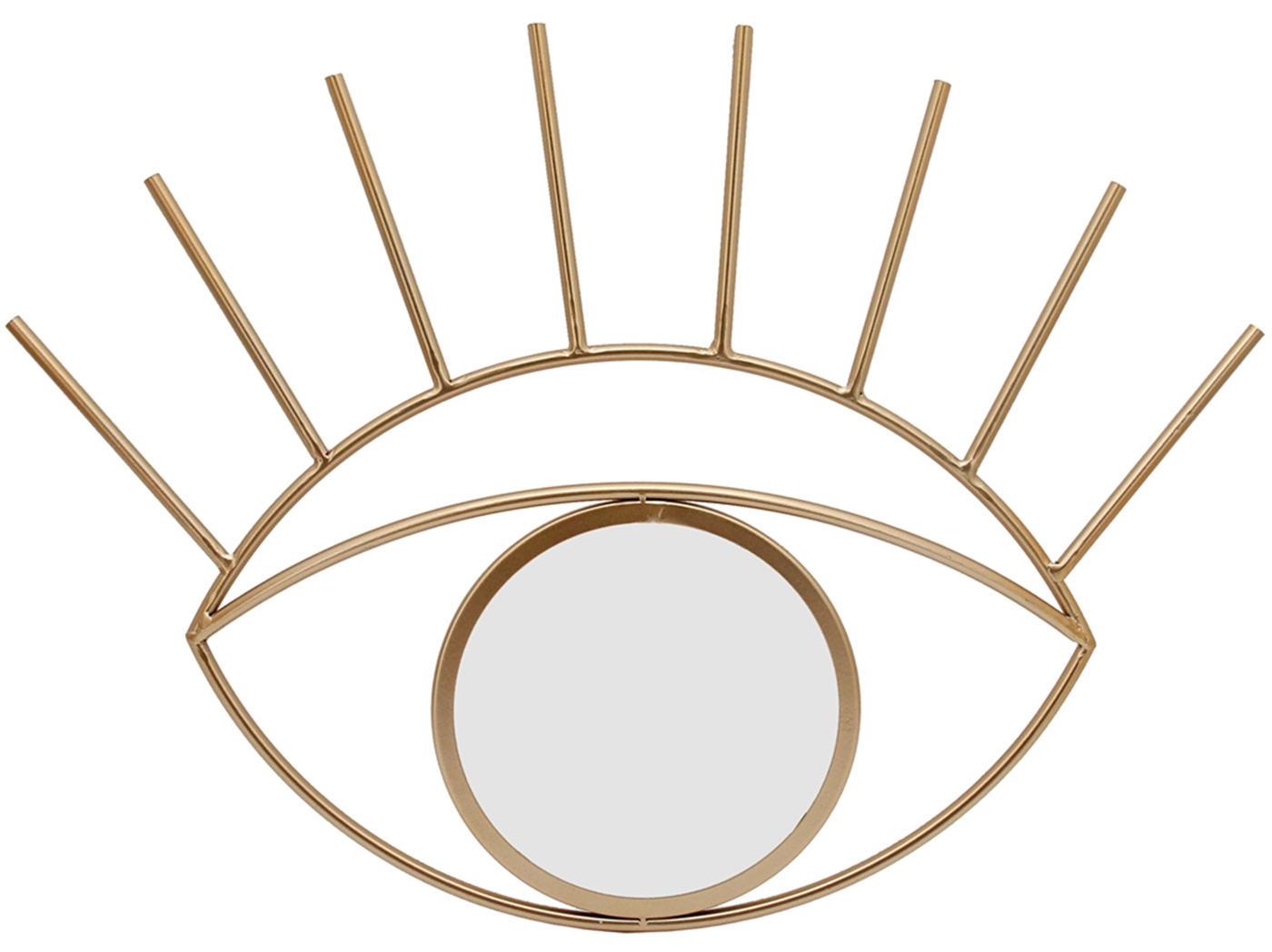 "Gold Metal Eye Mirror 31.5X18""H"