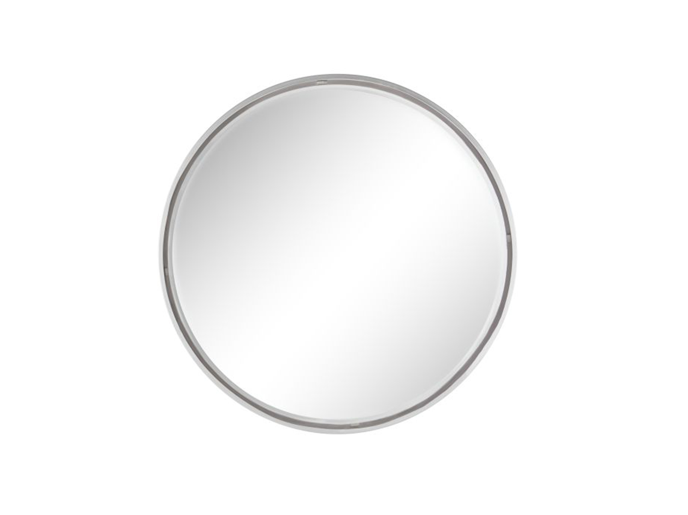 Silver Metal Round Wall Mirror 36""