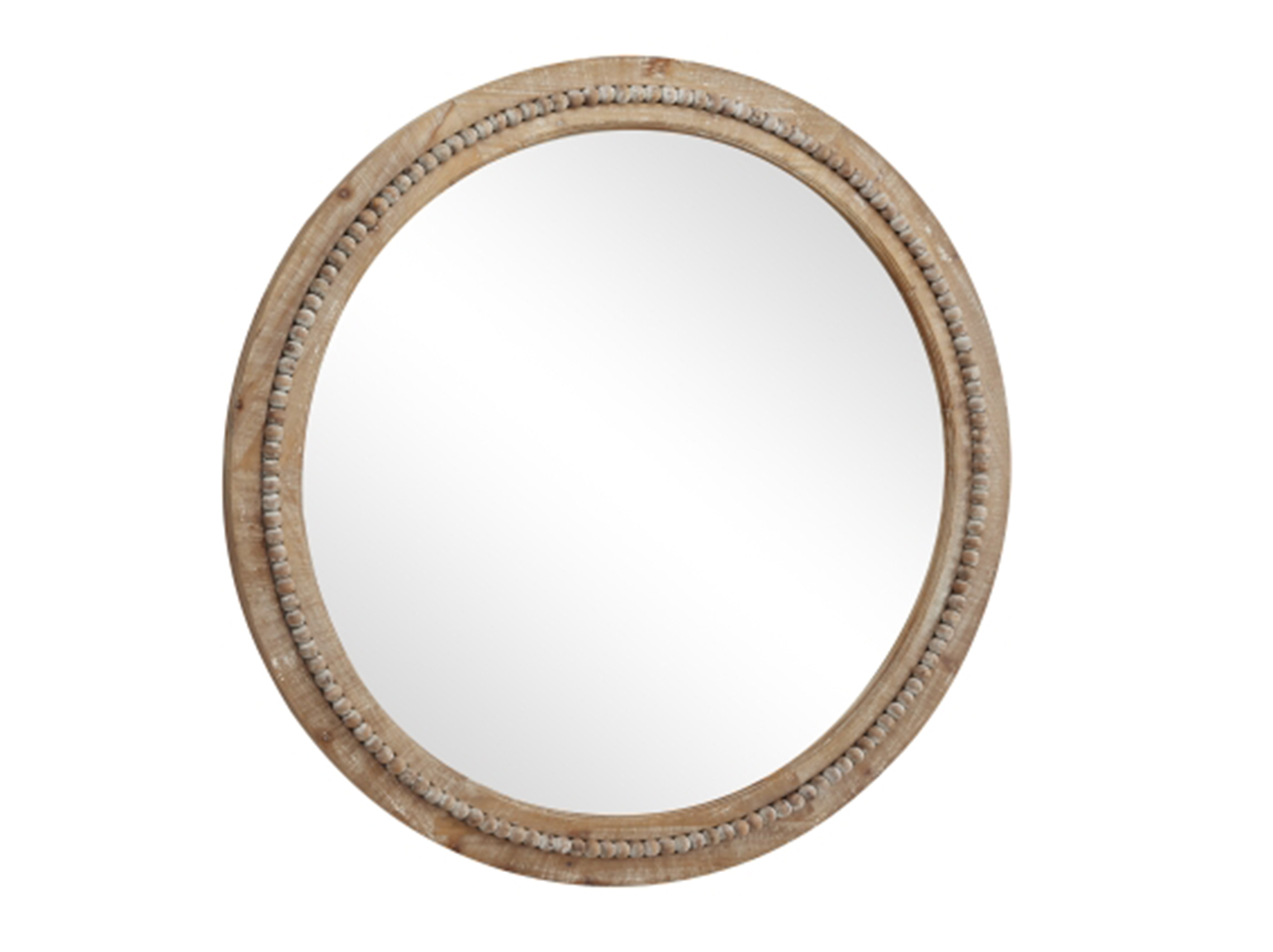 "Wood Wall Mirror 36"" Round"