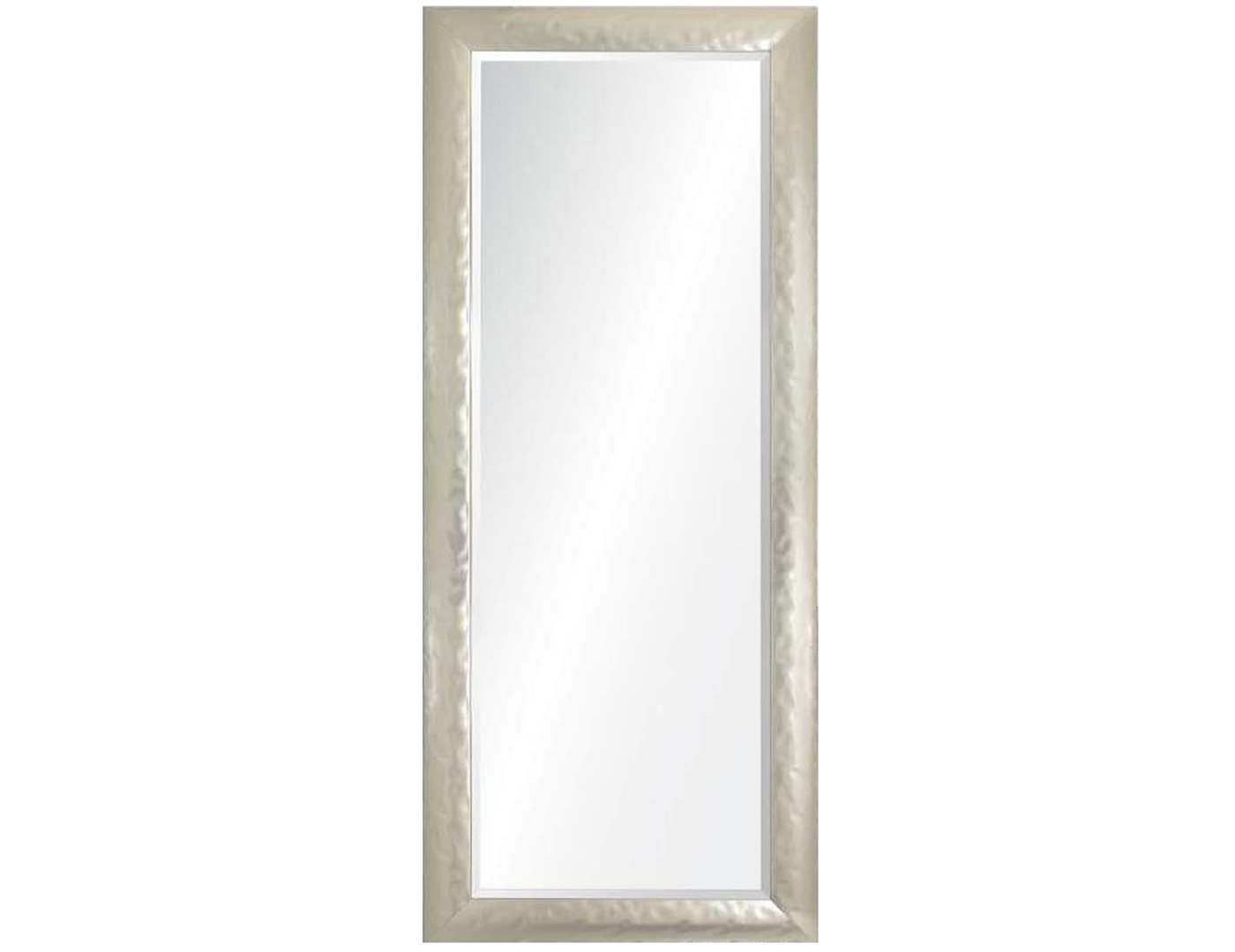 Silver Hammered Leaner Mirror