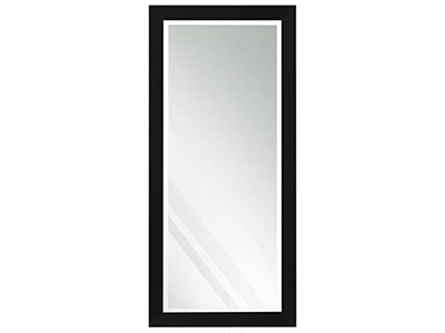 "Beveled Black Leaner Mirror 30""W x 64""H"