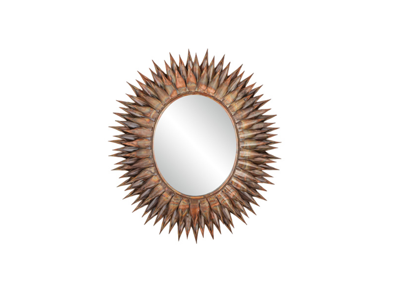 Copper/Bronze Oxodized Oval Mirror 40""