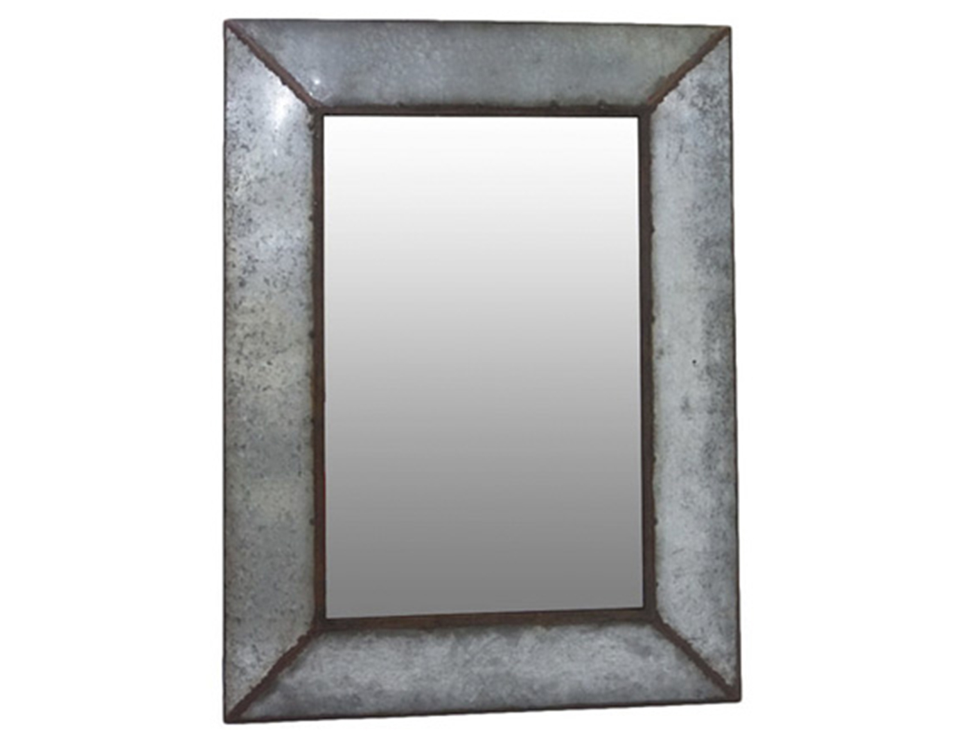 Antique Galvanized Wall Mirror