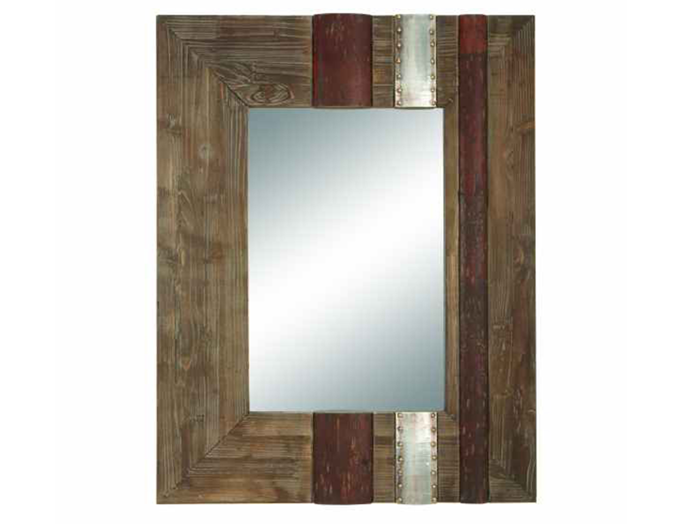 "Wood Wall Mirror 28""W x 36""H"