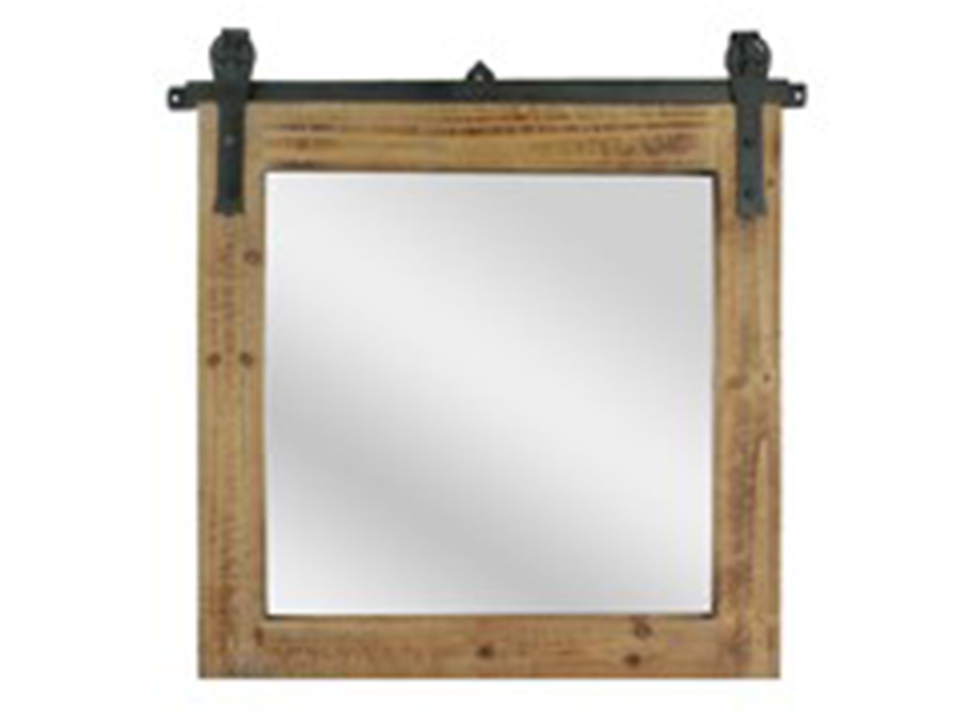 Square-Shaped Barn House Mirror
