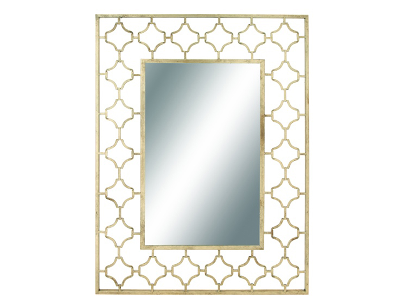 "Gold Metal Cutout Wall Mirror 38""W x 50""H"