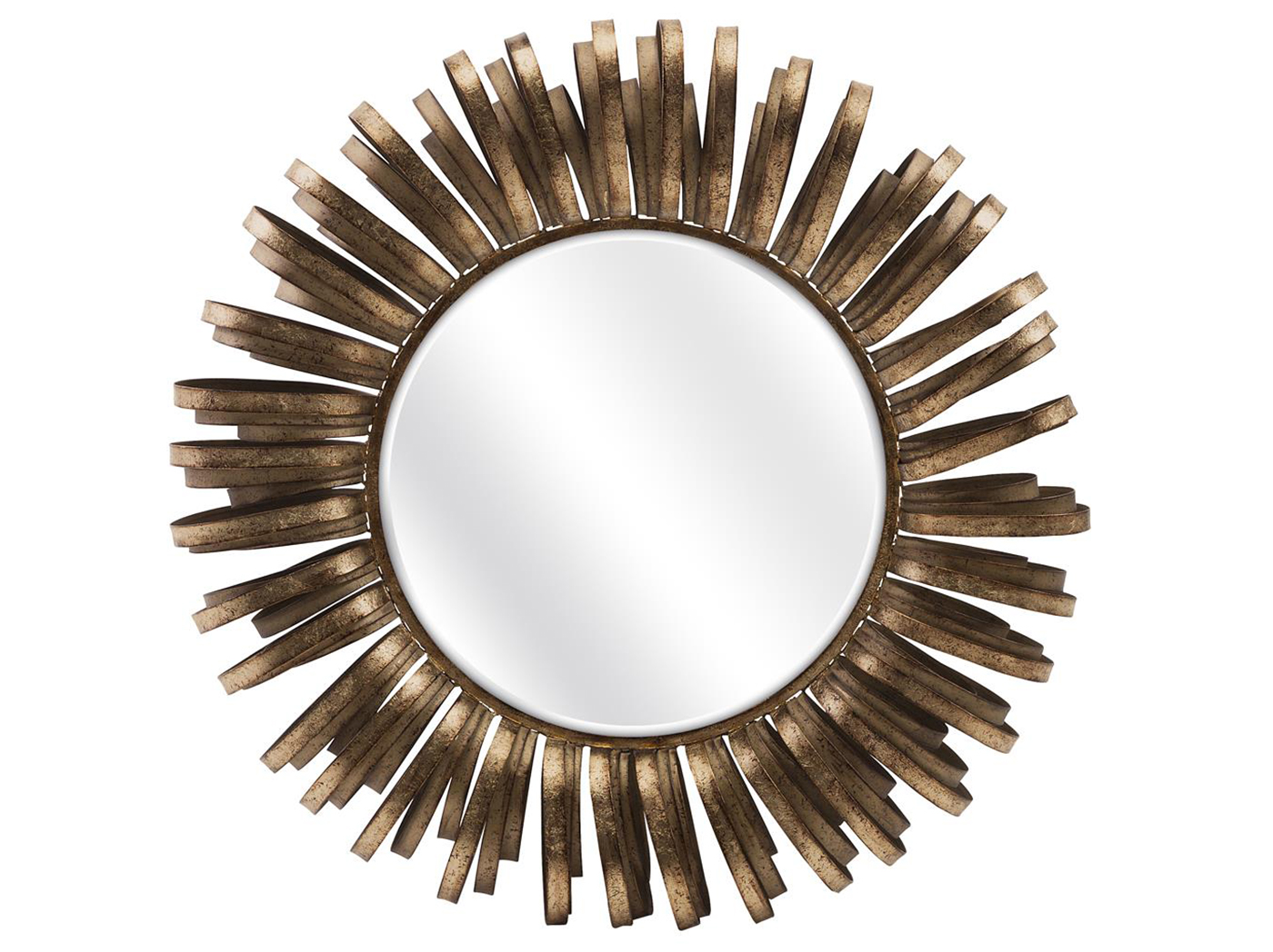 Bronze Metal Loops Wall Mirror 35""