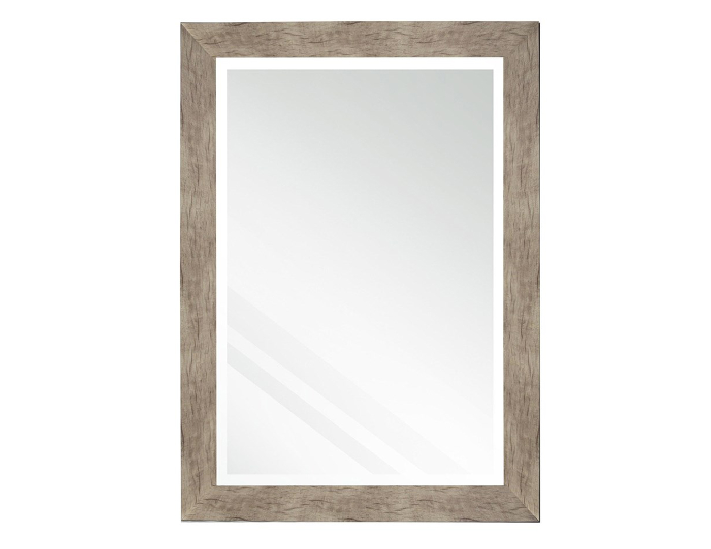 "Beveled Barnwood Finish Mirror 30""W x 42""H"
