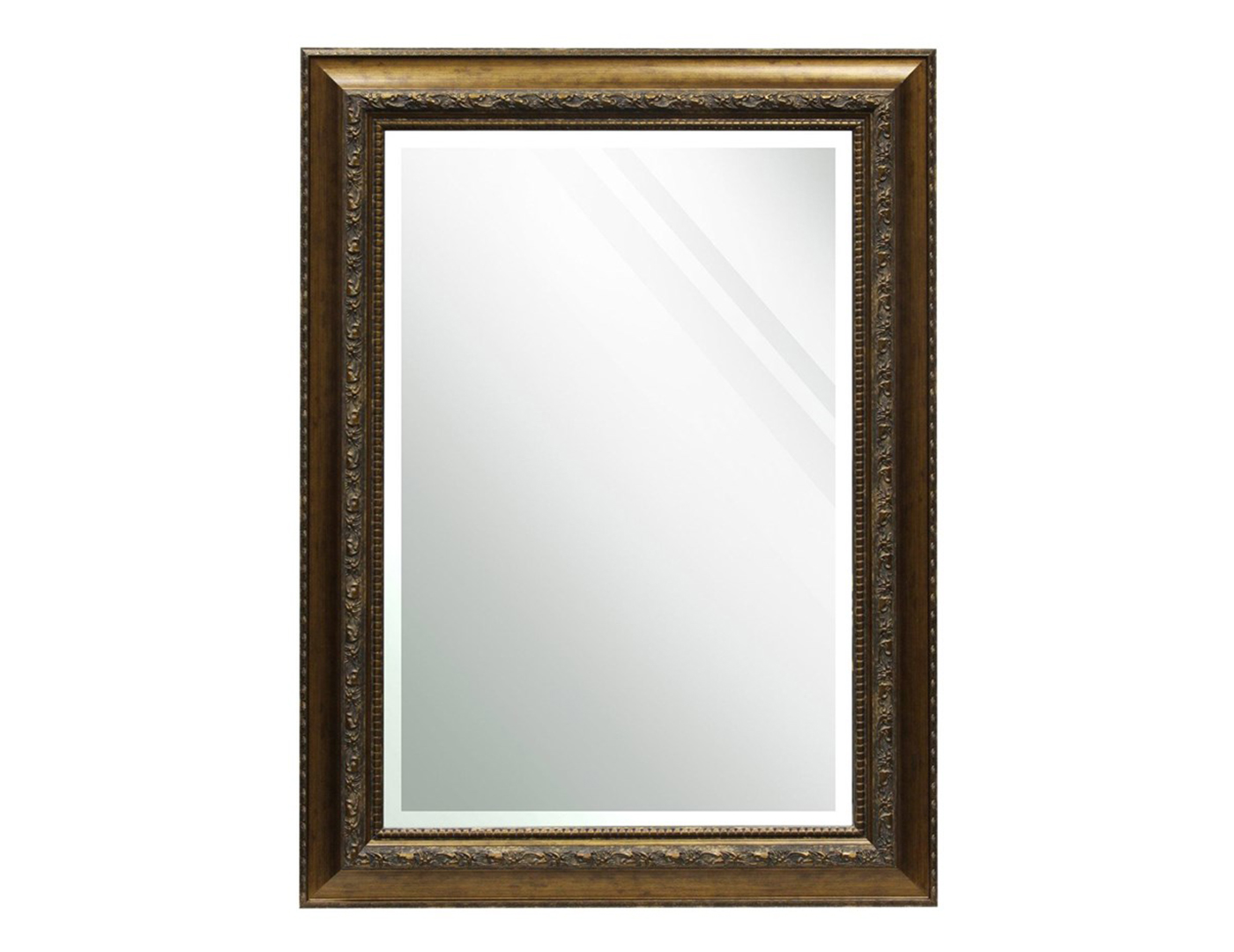 Beveled Gold Mirror