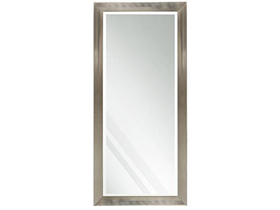 "Beveled Silver Finish Leaner Mirror 30""Wx64""H"