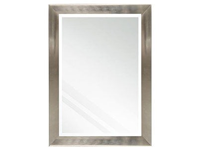 Beveled Stainless Steel Finish Mirror