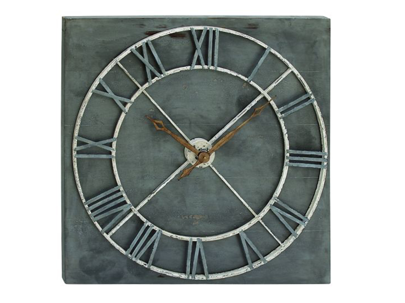 "Wood and Metal Wall Clock 36"" ""x36"""