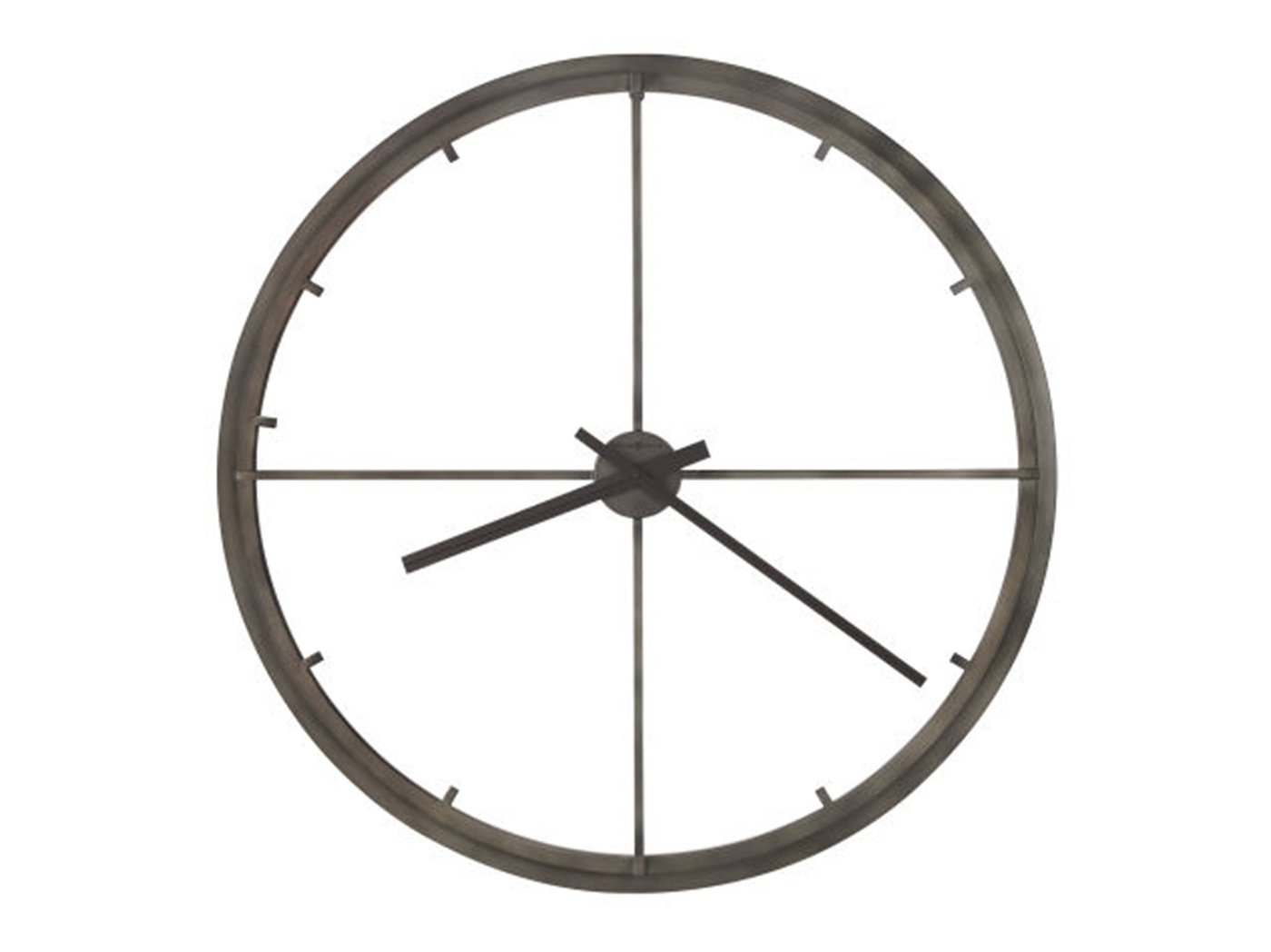Howard Miller Charcoal Metal Wall Clock 35.5""