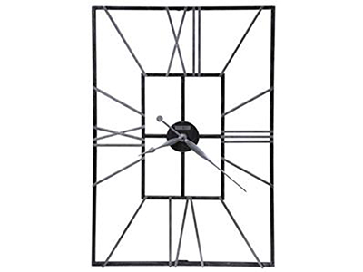 "Howard Miller Wrought Iron Wall Clock 24""W x 36""H"