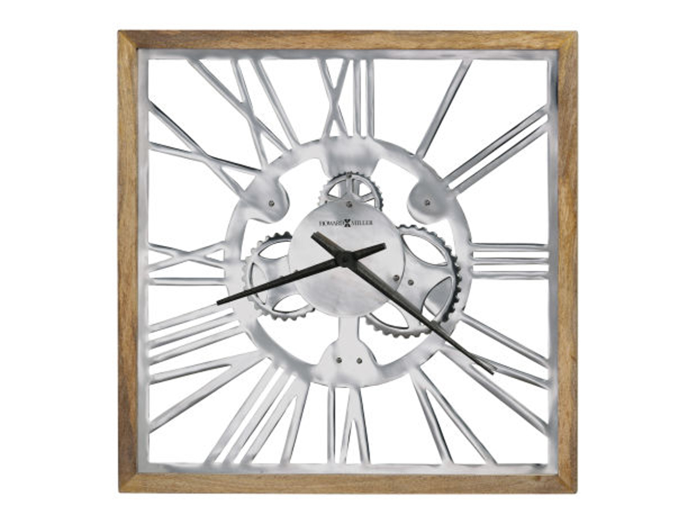 "Howard Miller Aluminum-Wood Wall Clock 26""W x 26""H"
