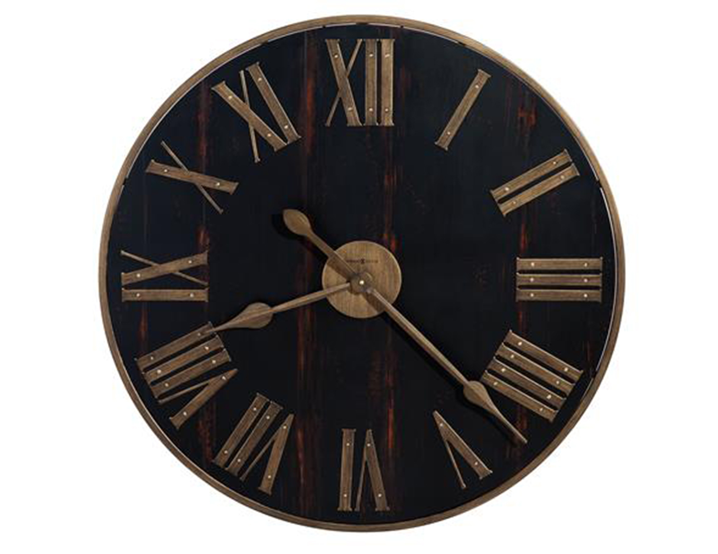 Antique Black and Brass Wall Clock