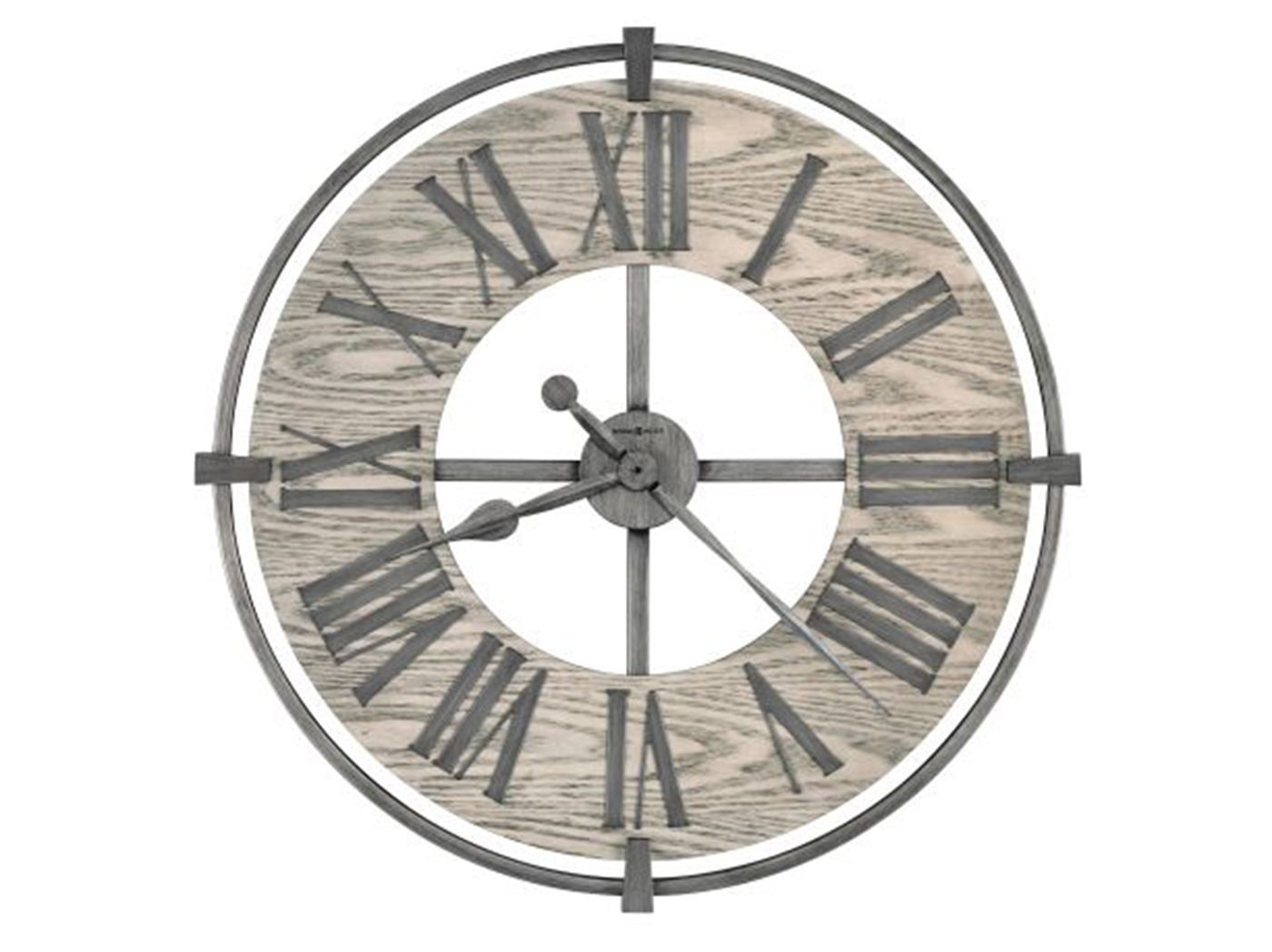 Howard Miller Grey Wood/Metal Wall Clock 32""