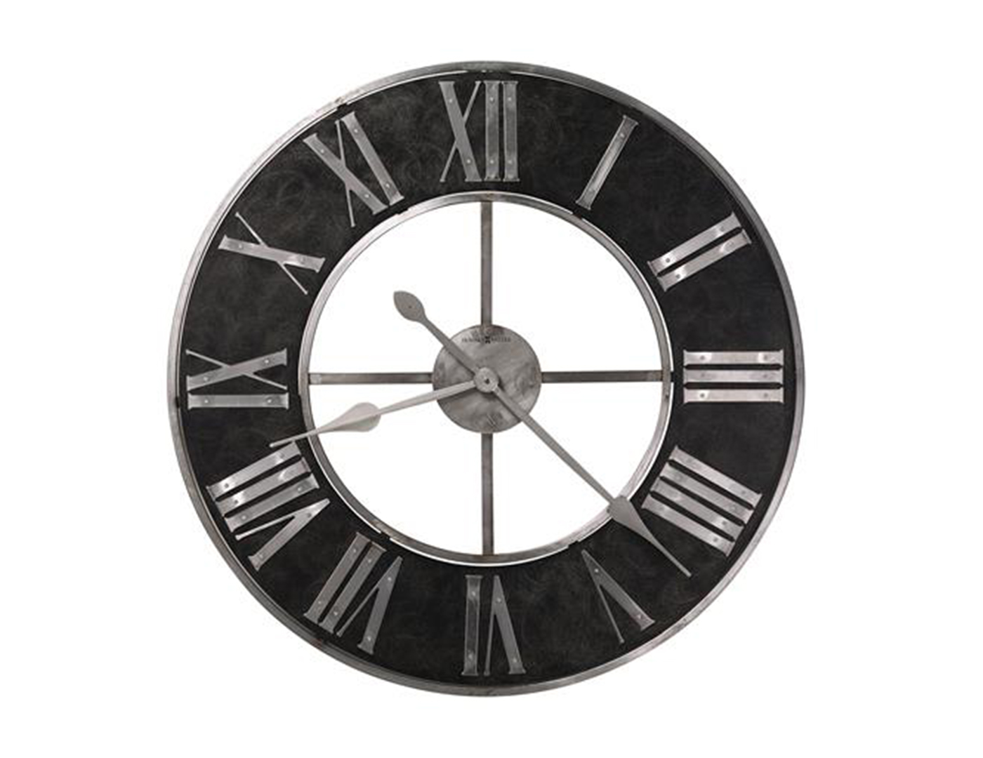 Howard Miller Charcoal/Silver Wall Clock 32""