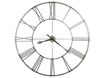 Stockton Aged Nickel Wall Clock