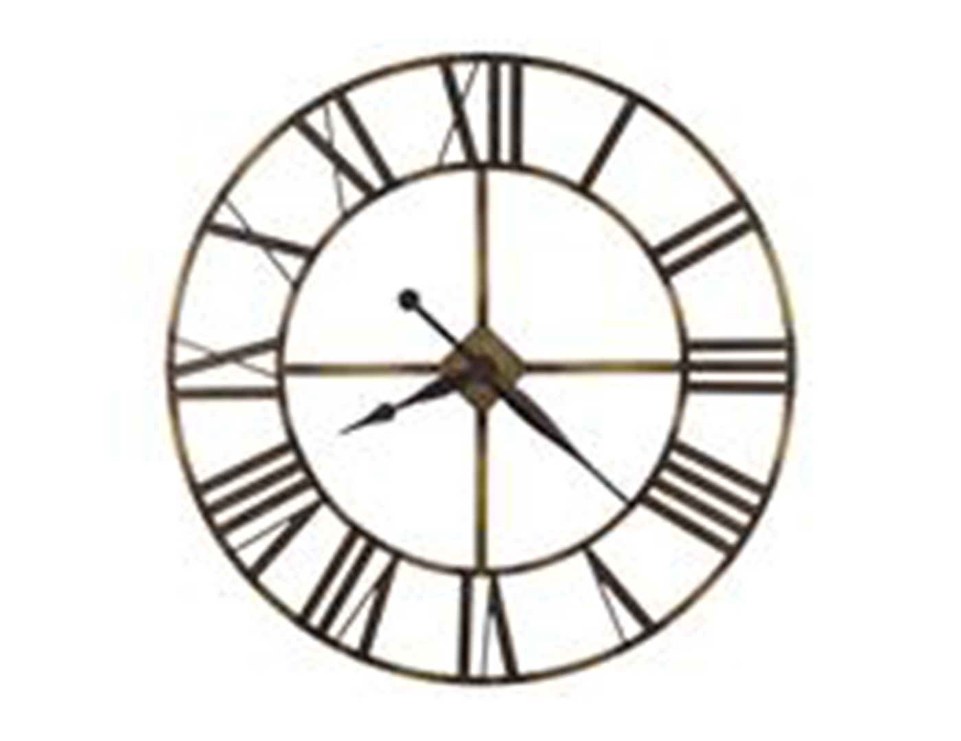 Howard Miller Wingate Wrought Iron Wall Clock 49""
